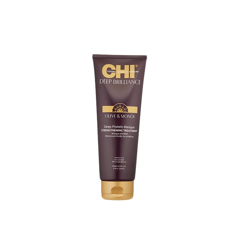 CHI DEEP BRILLIANCE OLIVE & MONOI DEEP PROTEIN MASQUE STRENGTHENING 237ML