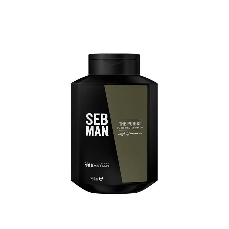 SEBMAN THE PURIST SHAMPOO 250ML. Σαμπουάν που Έλαιο περιποίησης για τιθασευμένα μαλλιά και γένια.